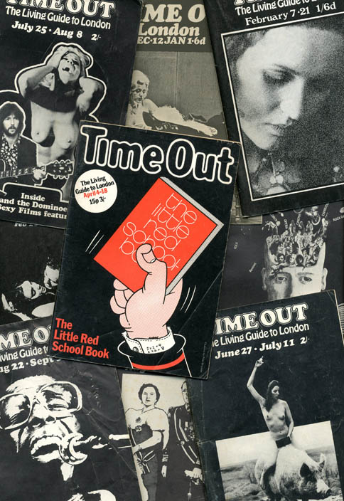 A group of 15 early issues of Time Out in London later Time