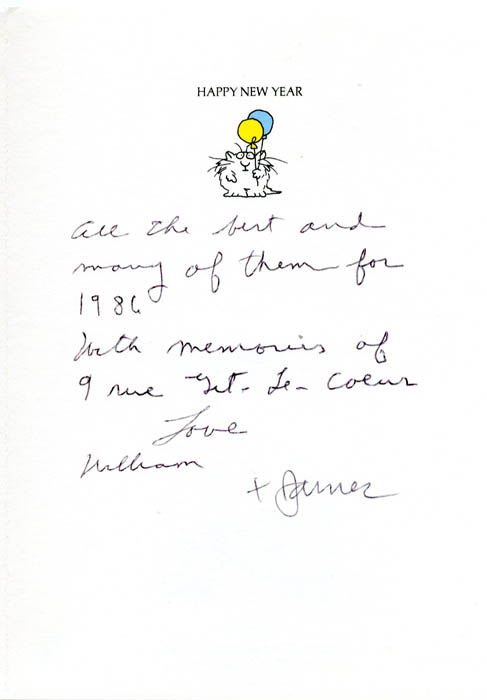A Christmas and New Year greetings card from William Burroughs to ...