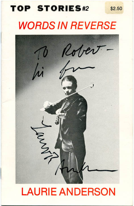 Words in Reverse. Laurie ANDERSON.