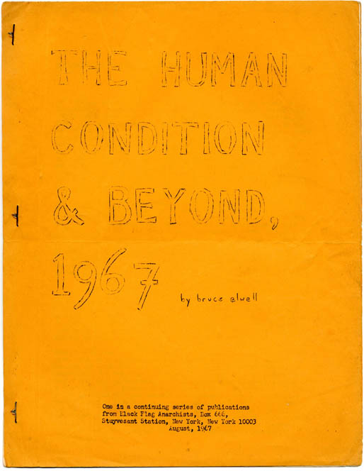 The Human Condition & Beyond, 1967. Bruce ELWELL.