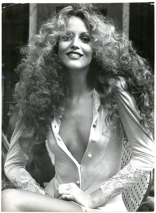 The New Face of '75. Three original syndicated press photographs of Jerry Hall by 'Suze', 1974. Jerry HALL.
