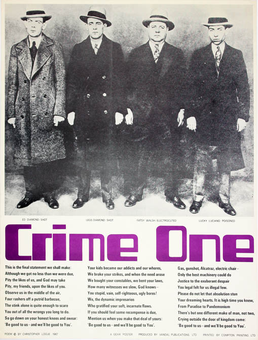 Crime One. Christopher LOGUE.