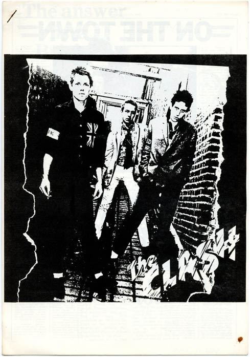 Original promotional booklet for The Clash, issued by CBS International and compiled by their chief press officer, Elly Smith, at the time of their first album release, April 1977. The CLASH.