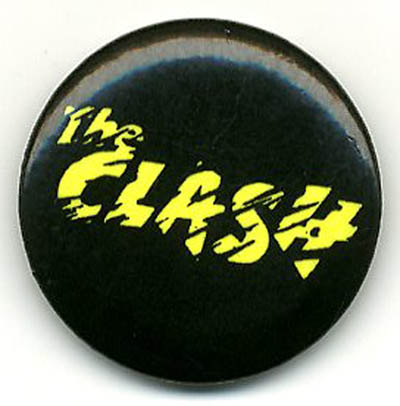 Clash logo. Original UK badge (c. 1977/78). The CLASH.