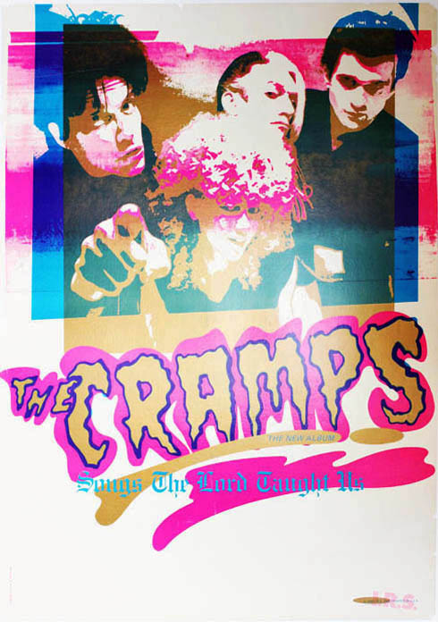 Songs The Lord Taught Us. Original US promo poster announcing The Cramps' debut album (I.R.S. Records, c. May 1980). The CRAMPS.