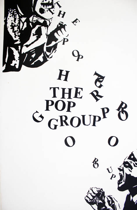 Original promotional poster (1978). The POP GROUP.