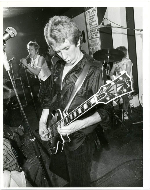 Original Ray Stevenson photograph of The Sex Pistols performing at the 100 Club, London, 31st August, 1976. The SEX PISTOLS.