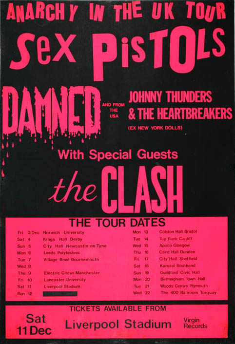Anarchy In The UK Tour, Liverpool Stadium, 11th December, 1976