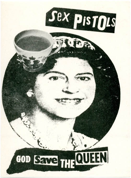 Original 'God Save The Queen' gummed sticker, c. March 1977