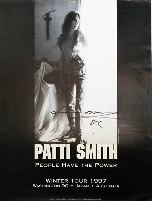 Original b/w poster announcing Patti Smith's Winter Tour 1997 ('People Have the Power'). Patti SMITH.