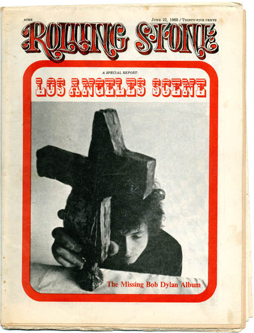 """""""Visuals: A Mind-Blown, Chaplinesque Mouse"""", a 1pp. feature on Rick Griffin by Thomas Albright, in ROLLING STONE #12 (SF: 22nd June, 1968). Rick GRIFFIN."""