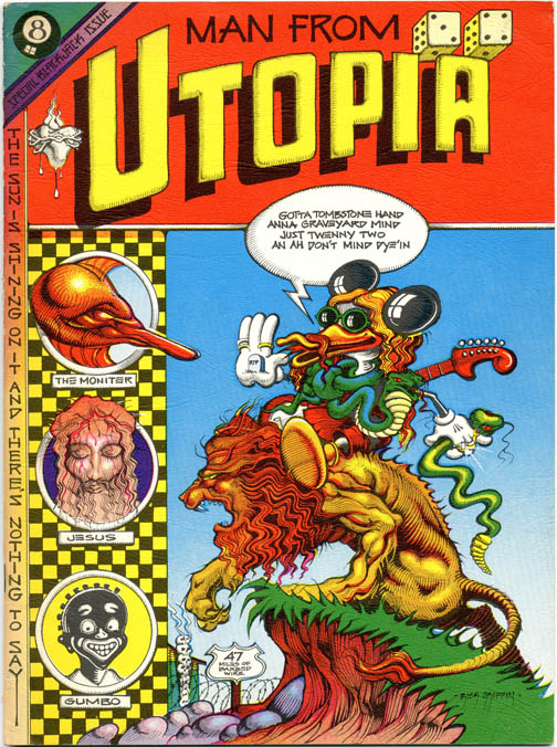 MAN FROM UTOPIA (SF: San Francisco Comic Book Co., 1972).
