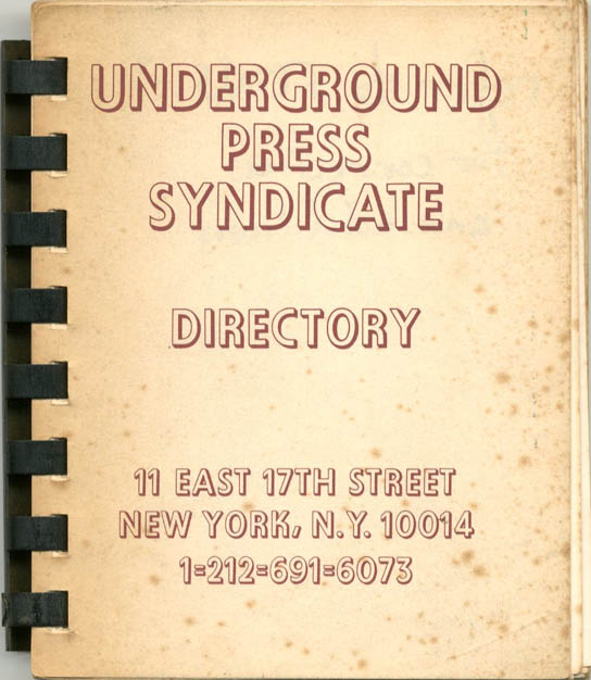 UNDERGROUND PRESS SYNDICATE - DIRECTORY.