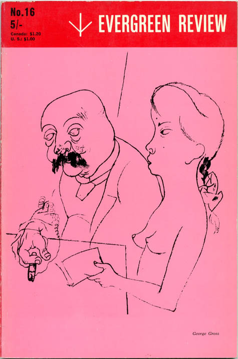 """""""From Naked Lunch"""" (14pp.), in EVERGREEN REVIEW Vol. 5, #16 (NY: January 1961)."""