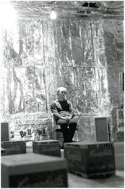 Andy Warhol at the Silver Factory, c. Spring 1964. Billy NAME.