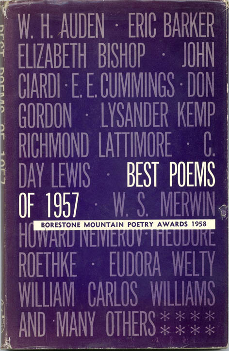 BEST POEMS OF 1957: Borestone Mountain Poetry Awards 1958.
