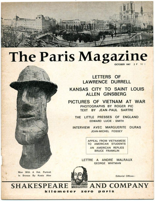 THE PARIS MAGAZINE #1 (Paris: Shakespeare and Company, October 1967) - all published.