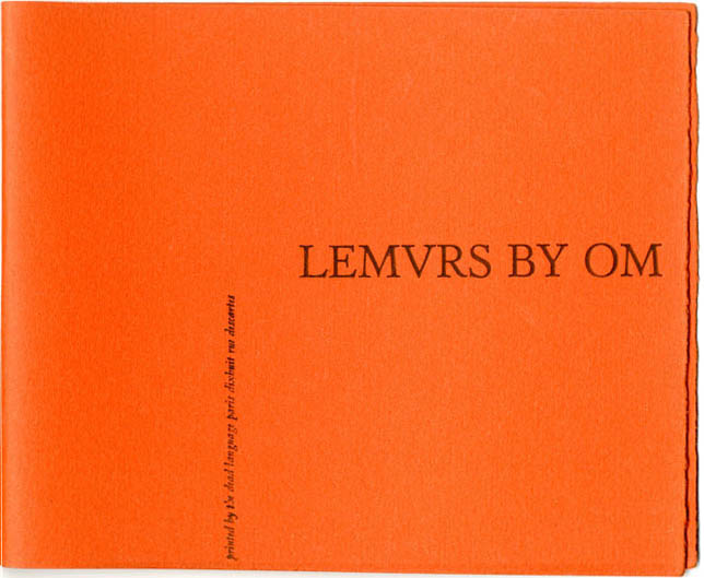 UNUSED COVER FOR 'LEMURS' BY OM.