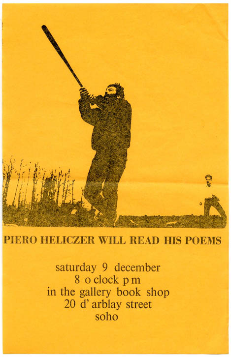 PIERO HELICZER WILL READ HIS POEMS.