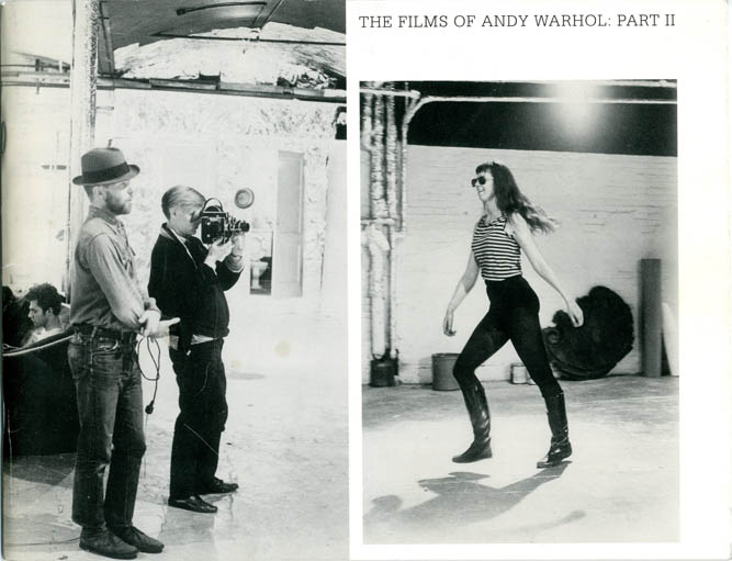 The Films of Andy Warhol: Part II. Callie ANGELL.