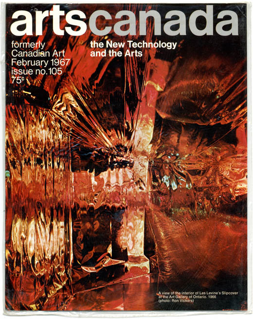 ARTSCANADA: The New Technology and the Arts #105 (Toronto: Society for Art Publication, February 1967).