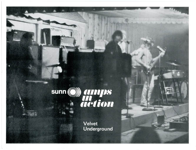 SUNN AMPS IN ACTION: VELVET UNDERGROUND.