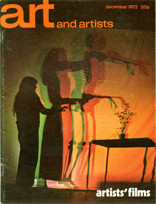 ART AND ARTISTS #81 - Artists' Films (London: December 1972).