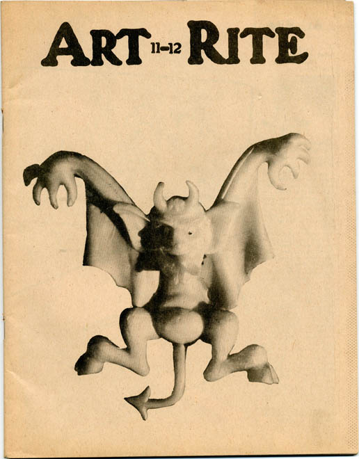 ART-RITE #11-12 (NY: Art-Rite Publishing Co., Winter/Spring, 1975-76).