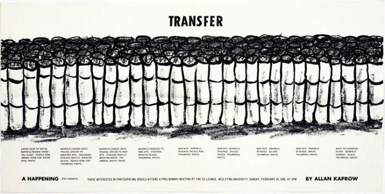 Transfer. A Happening (For Christo