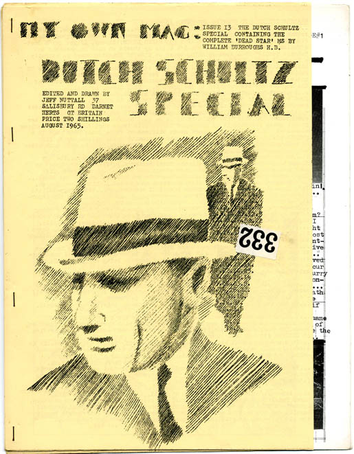 """""""The Dead Star"""" in MY OWN MAG #13 - 'Dutch Schultz Special' (Barnet, Herts: August 1965). William S. BURROUGHS, contributes."""