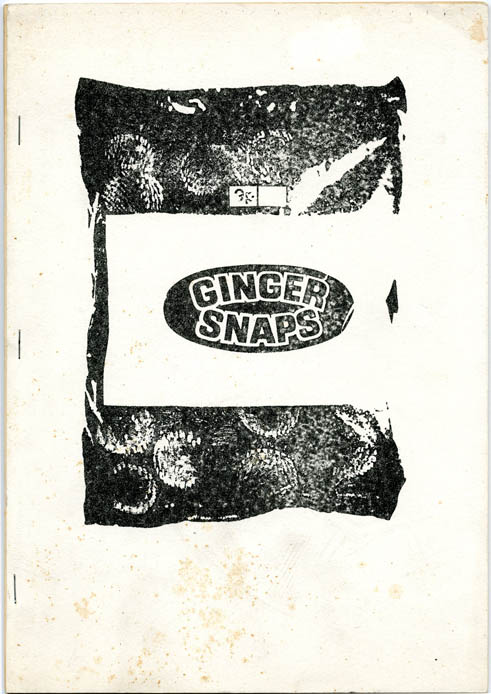 Ginger Snaps: a collection of cut-ups/machine prose/word & image trips. William S. BURROUGHS, Brion GYSIN, contribute.