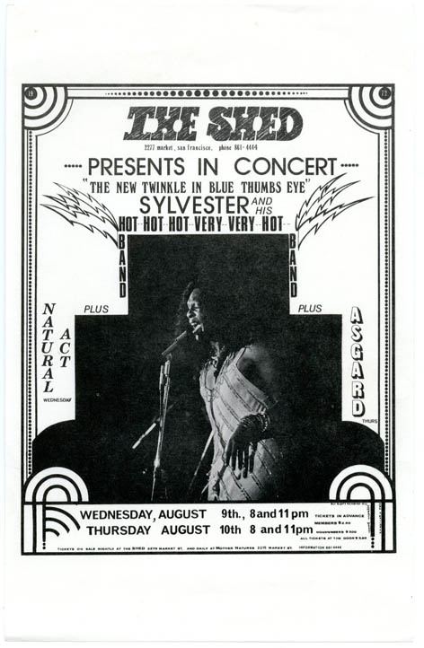 SYLVESTER AND HIS HOT BAND AT THE SHED.