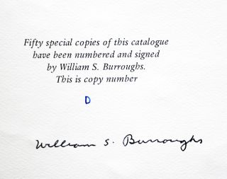 CATALOGUE EIGHT. WILLIAM S. BURROUGHS: THE HOMBRE INVISIBLE.