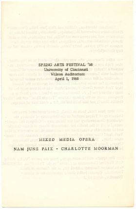 ACTION MUSIC: Spring Arts Festival '68.