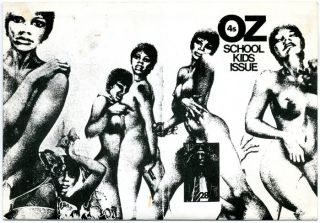 THE OZ TRIAL. A programme for a Bristol University production of David Illingworth's dramatisation of the Oz trial, nd. (1976).