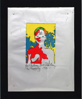 "An original painting by Martin Sharp. Paint (probably acrylic) on soft (Mylar) plastic film. Untitled. Signed in paint by the artist: ""for Anthony, love Martin The Pheasantry 1970 - !""."