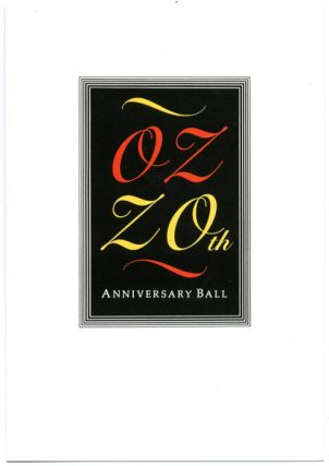 OZ 20th ANNIVERSARY BALL