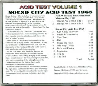 Acid Test Volume 1: Sound City Acid Test 1965.