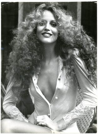 The New Face of '75. Three original syndicated press photographs of Jerry Hall by 'Suze', 1974....