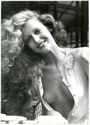 The New Face of '75. Three original syndicated press photographs of Jerry Hall by 'Suze', 1974.