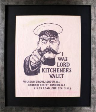 An original item of paper packaging advertising the clothing boutique, I Was Lord Kitchener's...