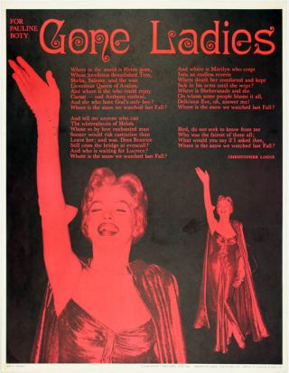 Gone Ladies. For Pauline Boty. Christopher LOGUE.