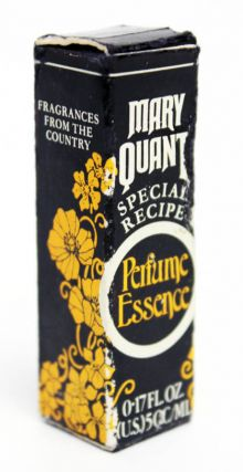 A miniature bottle of Mary Quant 'Wistaria' perfume, with original box.