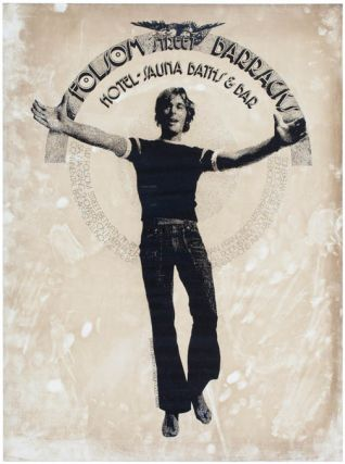 A collection of posters, handbills, buttons and other ephemera from the gay male leather...