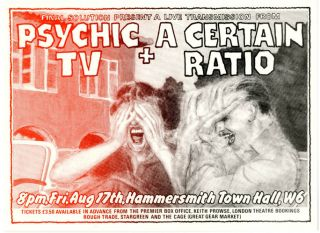 Original flyer announcing 'Final Solution Present A Live Transmission From Psychic TV + A Certain...