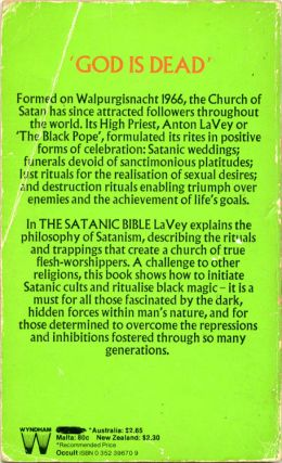 The Satanic Bible.