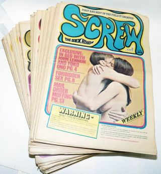 SCREW #3-64 (NY: Milky Way Productions, 24th January, 1969- 25th May, 1970).
