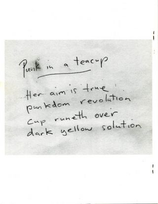 ECSTATIC PEACE POETRY JOURNAL #6 (Florence, MA: Summer 2003).