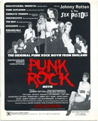 Press Book. The PUNK ROCK MOVIE
