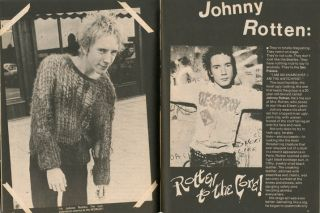 PUNK ROCK SPECIAL - JOHNNY ROTTEN AND THE SEX PISTOLS Vol. 1, #1 (NY: Spring 1978).